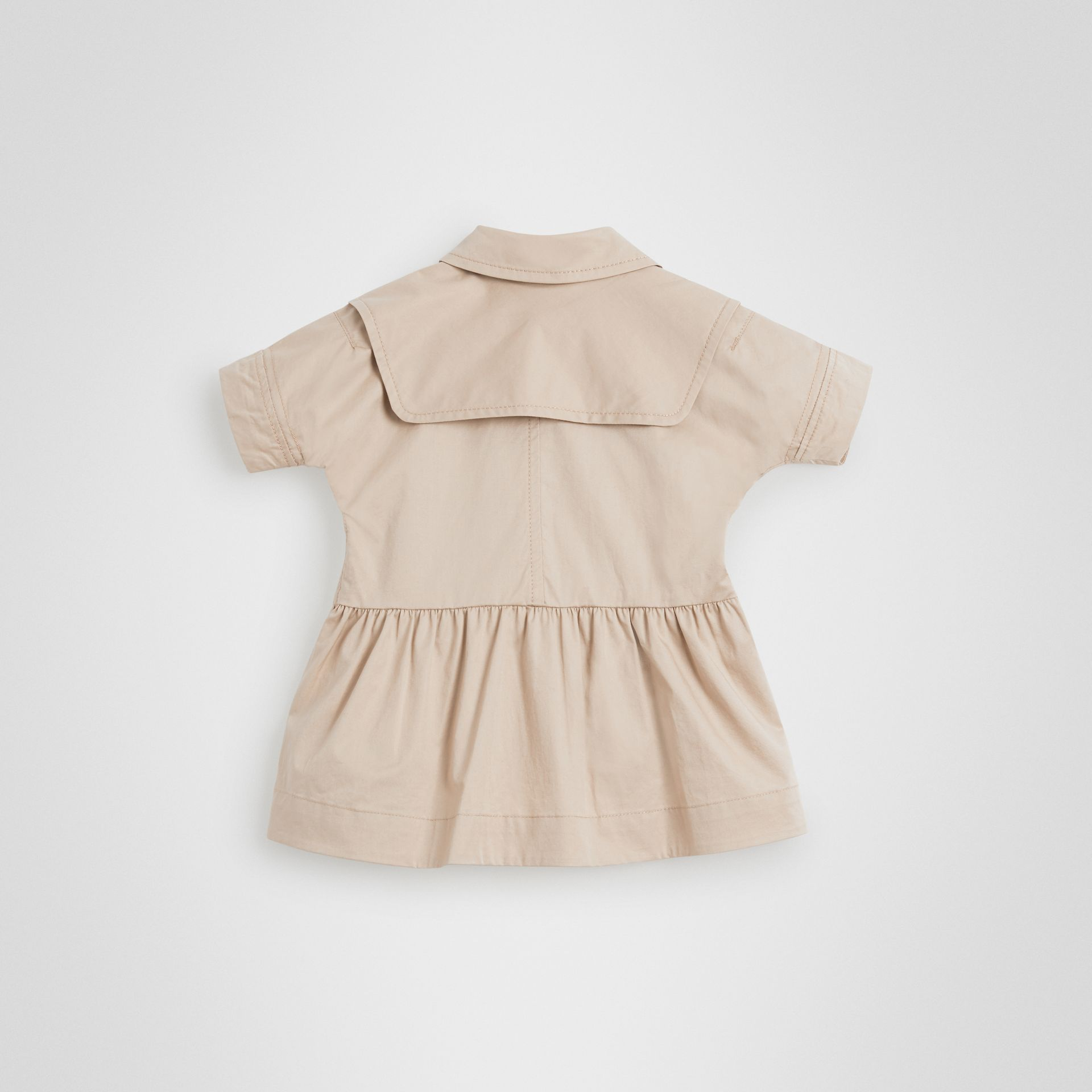 Stretch Cotton Trench Dress in Honey - Children | Burberry United States - gallery image 3