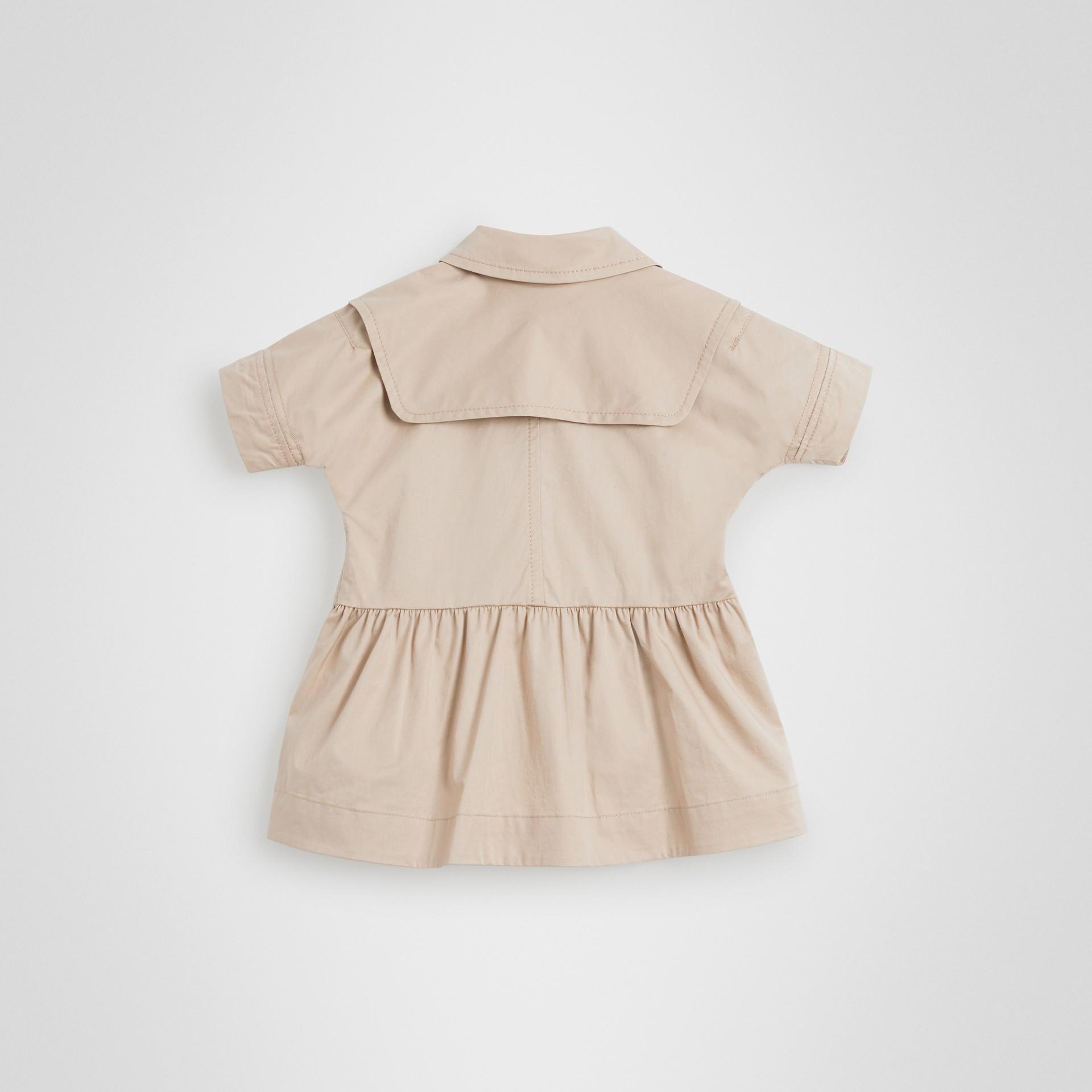 Robe trench en coton extensible (Miel) - Enfant | Burberry - photo de la galerie 3