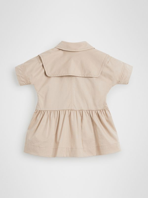Stretch Cotton Trench Dress in Honey - Children | Burberry United States - cell image 3