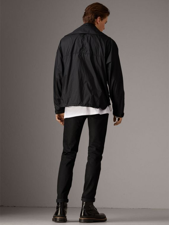 Packaway Hood Funnel-neck Jacket in Black - Men | Burberry Hong Kong - cell image 2