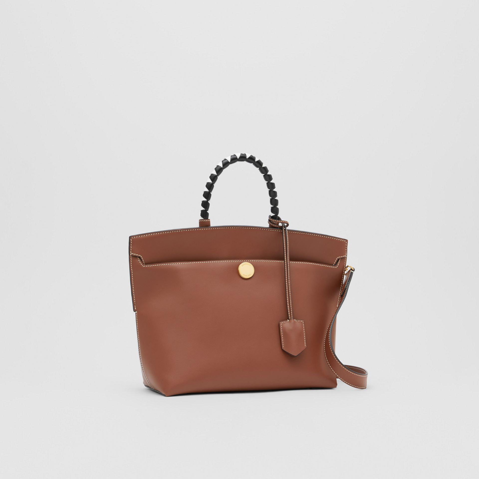 Small Leather Society Top Handle Bag in Tan - Women | Burberry - gallery image 6