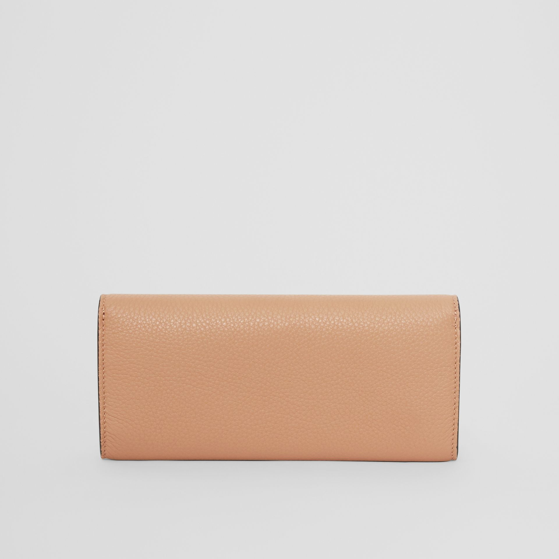 Grainy Leather Continental Wallet in Light Camel - Women | Burberry - gallery image 5