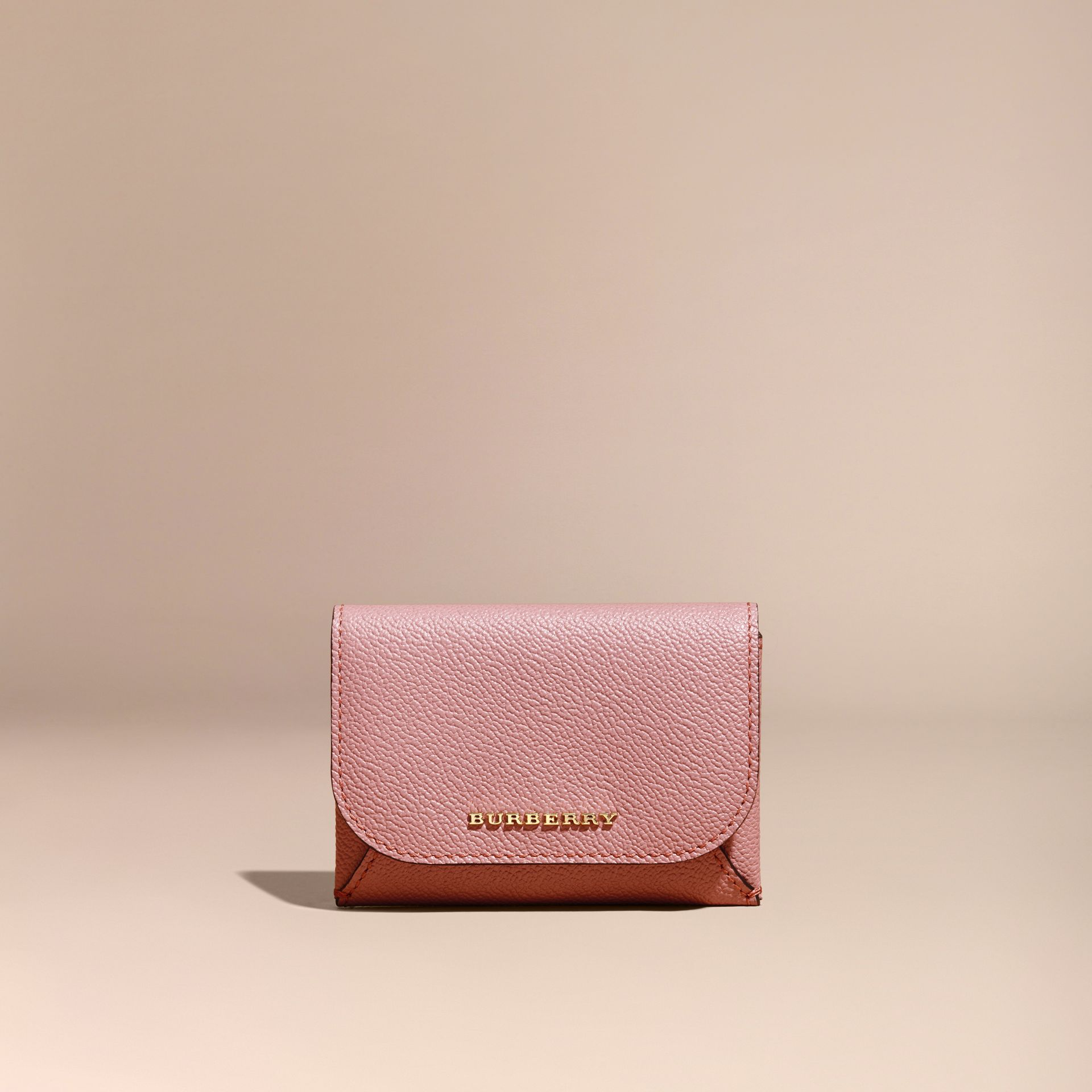 Leather Coin Case with Removable Card Compartment in Dusty Pink - Women | Burberry - gallery image 6