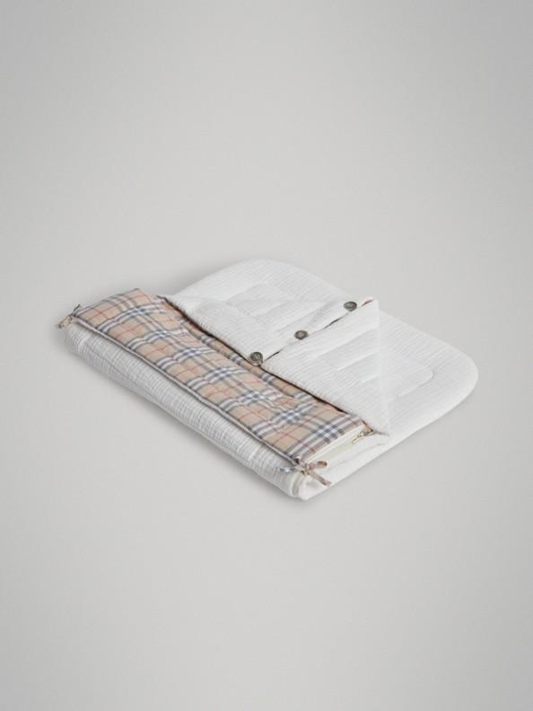 Конверт для младенца на подкладке в клетку (Белый)