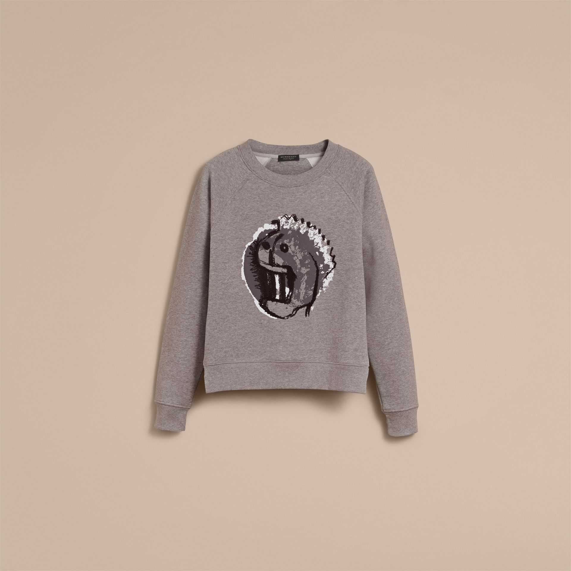 Unisex Pallas Heads Motif Sweatshirt - Women | Burberry - gallery image 4