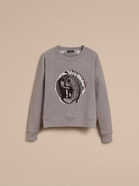 Unisex Pallas Heads Motif Sweatshirt - Women | Burberry - cell image 3