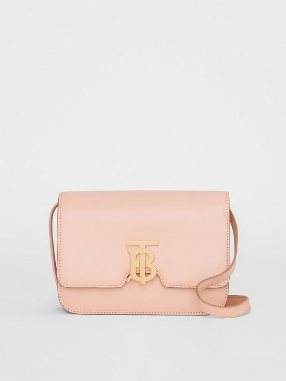 Small Leather TB Bag in Rose Beige