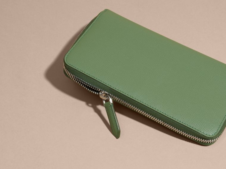 London Leather Ziparound Wallet in Antique Green - cell image 1