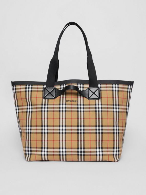 Large Vintage Check Austen Tote in Archive Beige