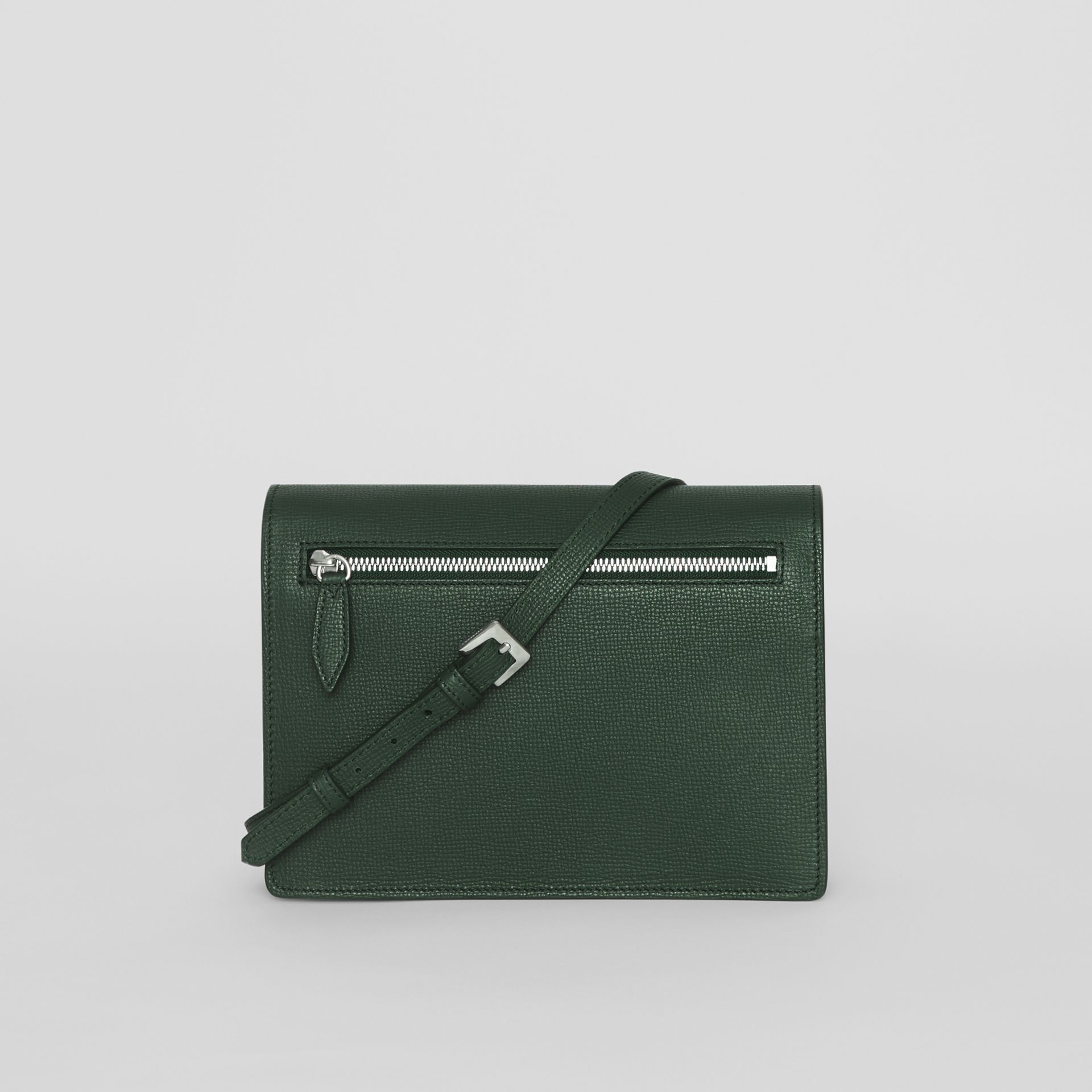 Small Vintage Check and Leather Crossbody Bag in Green - Women | Burberry Australia - gallery image 7