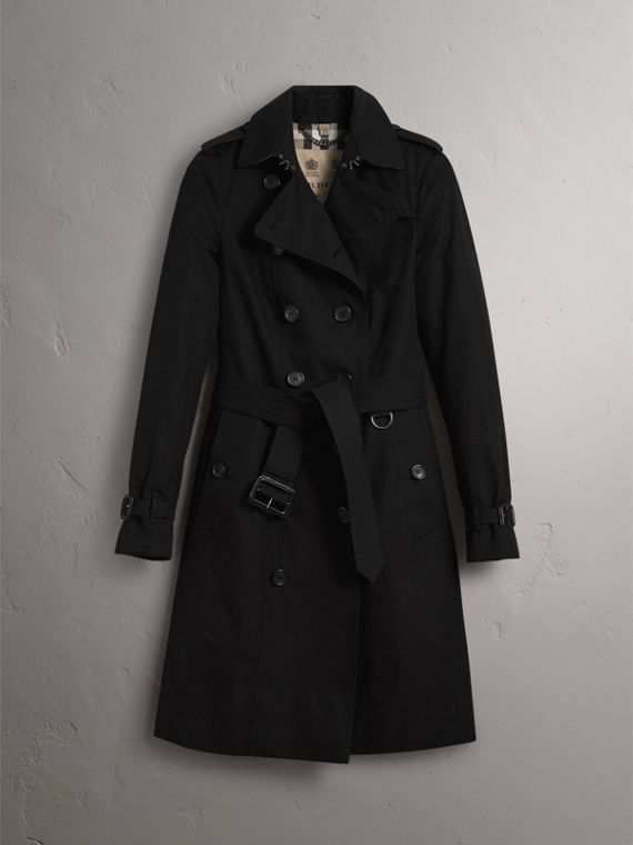 The Sandringham – Long Heritage Trench Coat in Black - Women | Burberry - cell image 3