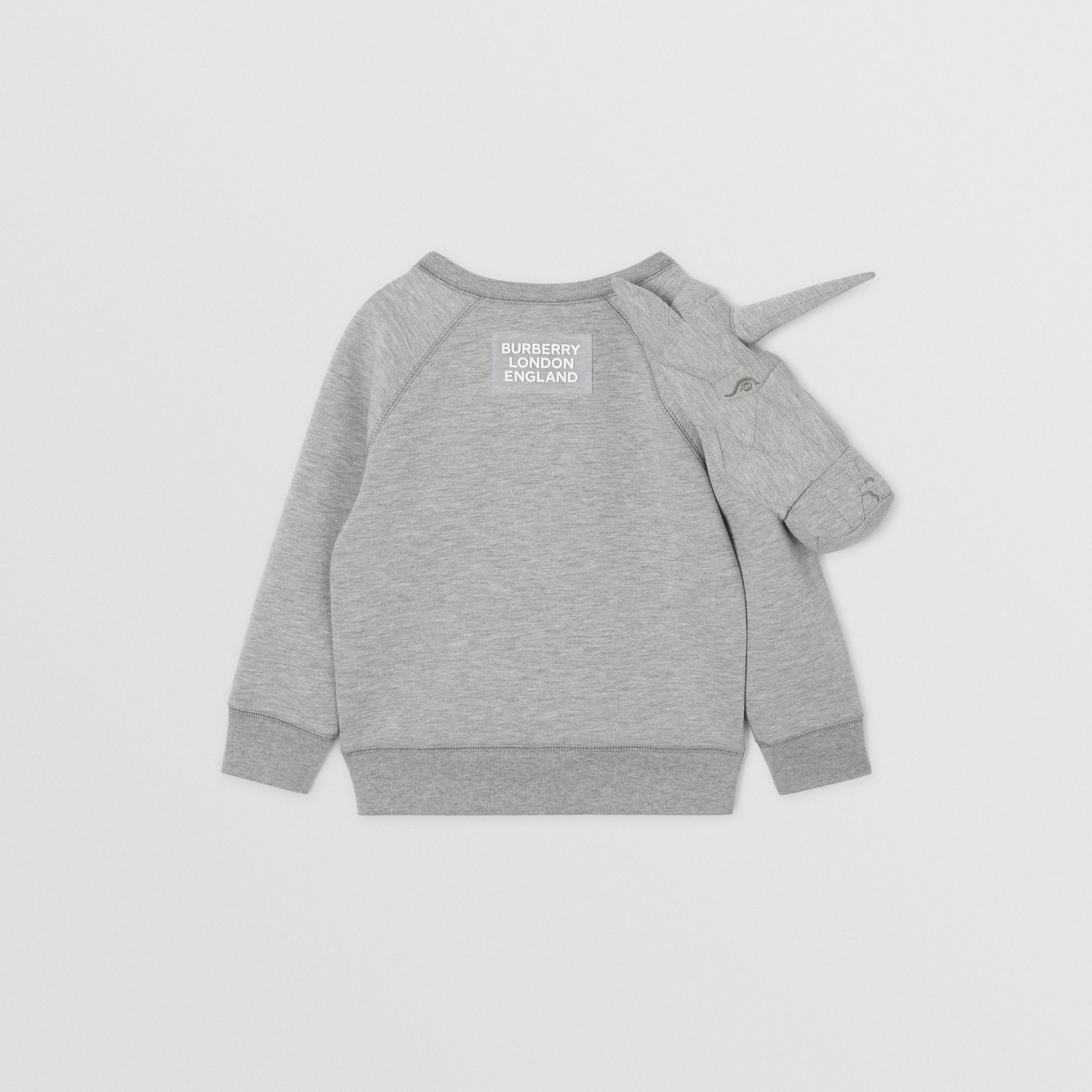 3D Unicorn Sweatshirt – Online Exclusive in Grey Melange | Burberry - 4