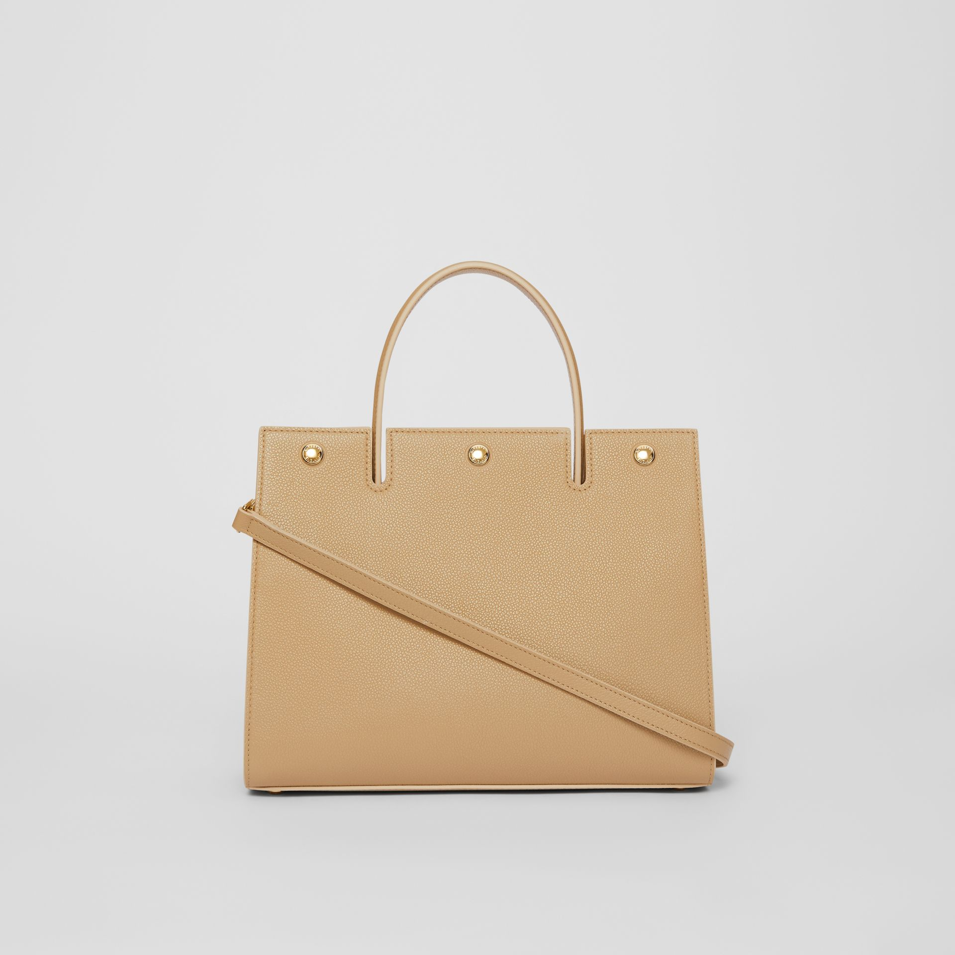 Small Leather Title Bag in Honey - Women   Burberry - gallery image 7