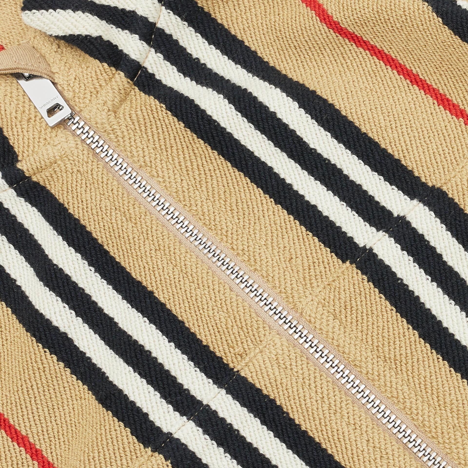 Icon Stripe Cotton Track Top in Archive Beige - Children   Burberry United Kingdom - gallery image 1
