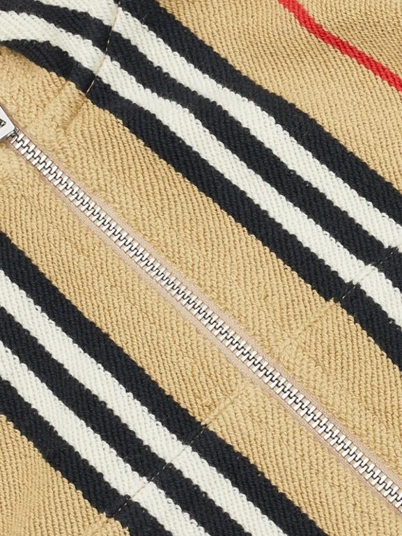Icon Stripe Cotton Track Top in Archive Beige - Children   Burberry United Kingdom - cell image 1
