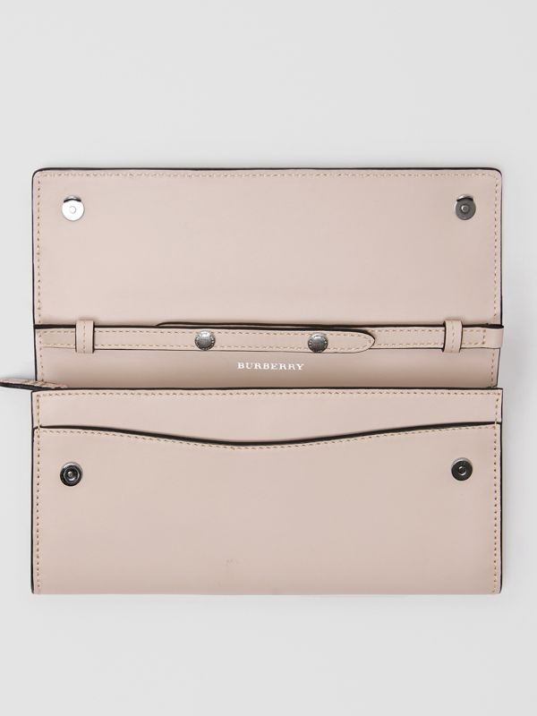 Small Scale Check Wallet with Detachable Strap in Ice Pink - Women | Burberry United States - cell image 3