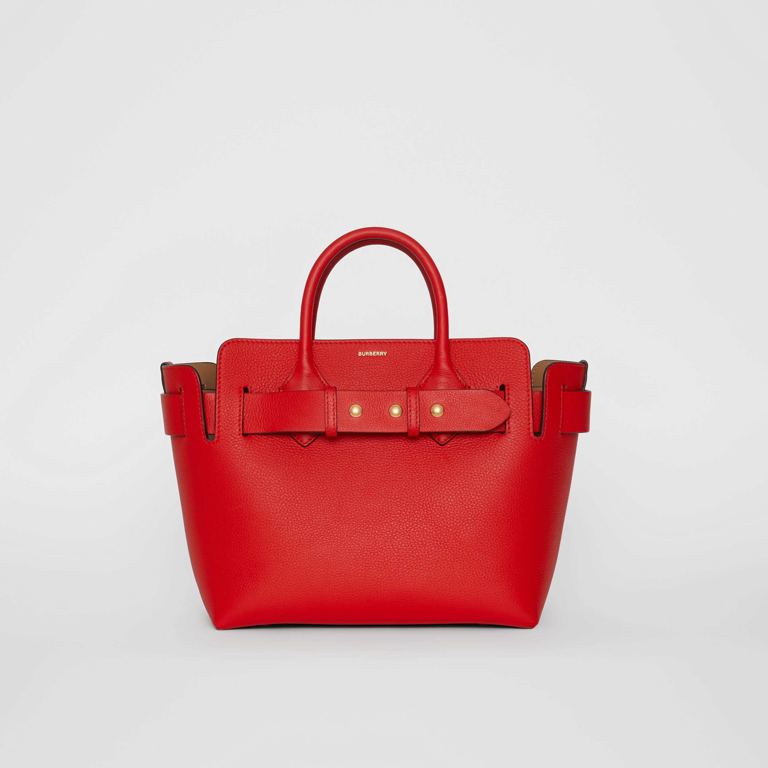 The Small Leather Triple Stud Belt Bag in Bright Military Red - Women | Burberry - 1