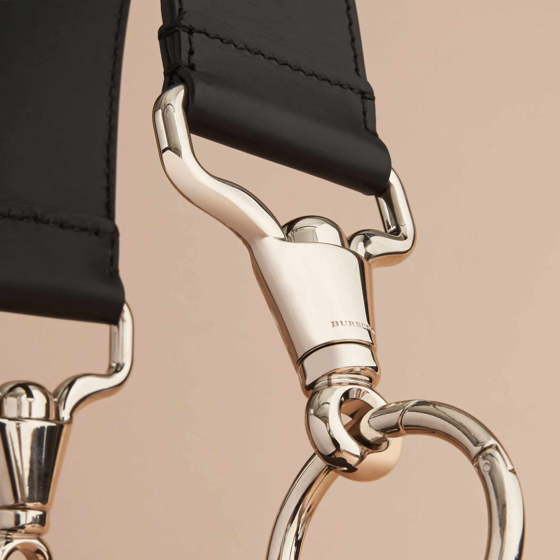 The Bridle Bag in Deerskin in Black - Women | Burberry - gallery image 7