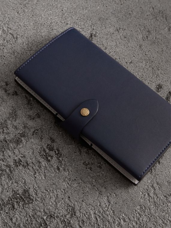 Equestrian Shield Two-tone Leather Continental Wallet in Mid Indigo - Women | Burberry United States - cell image 2