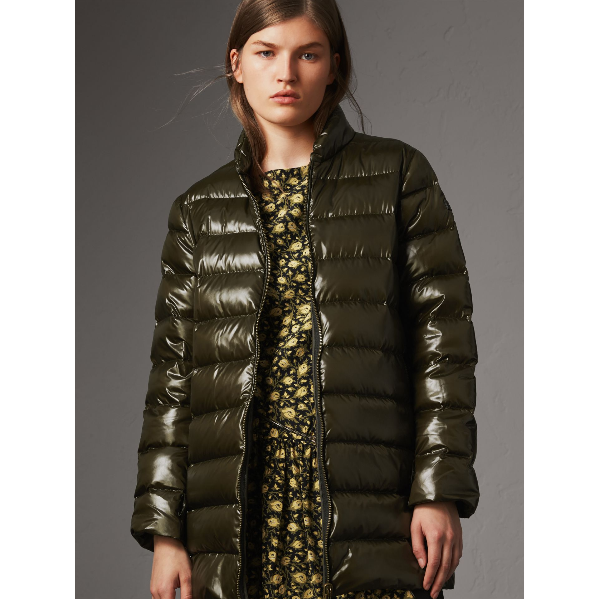 Raccoon Fur and Shearling Trim Parka with Warmer in Dark Olive - Women | Burberry - gallery image 4