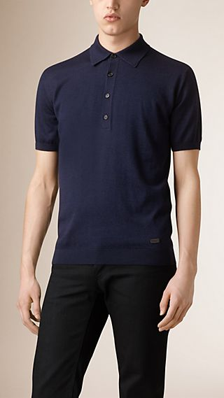 Silk Knitted Cashmere Polo Shirt