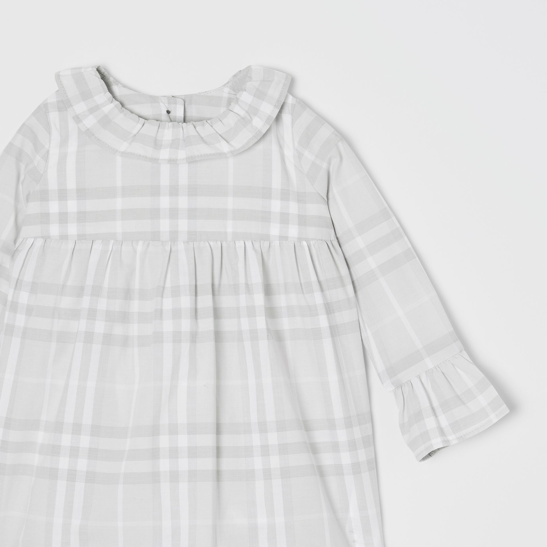 Long-sleeve Vintage Check Cotton Dress in Pale Grey - Children | Burberry - gallery image 4
