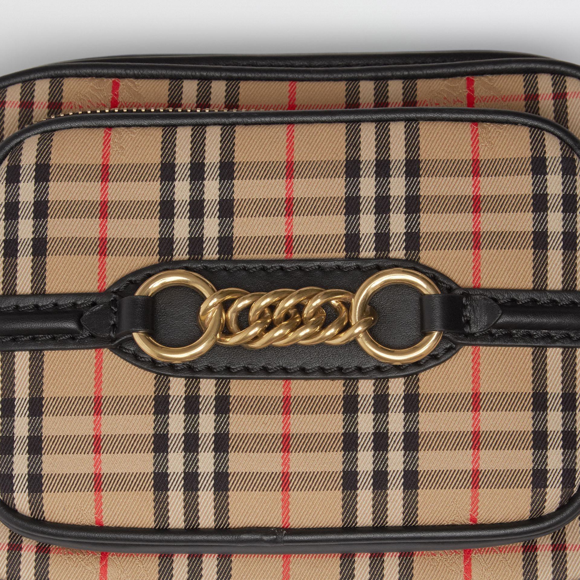 The 1983 Check Link Camera Bag in Black - Women | Burberry United States - gallery image 4