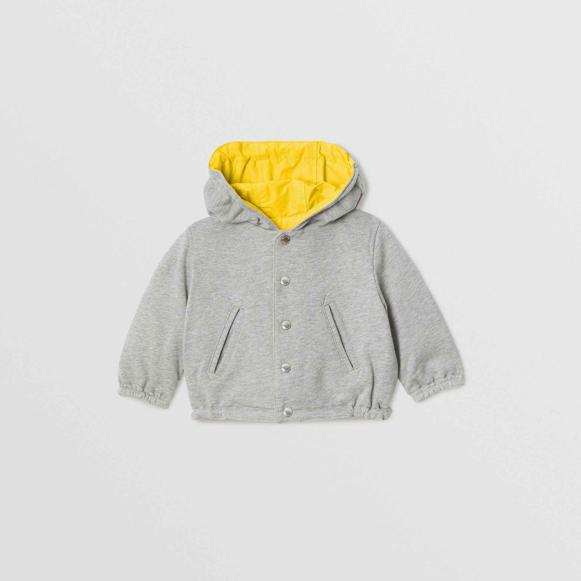 Logo Print Reversible Hooded Jacket in Bright Yellow - Children | Burberry - gallery image 3