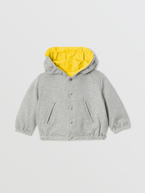 Logo Print Reversible Hooded Jacket in Bright Yellow - Children | Burberry - cell image 3