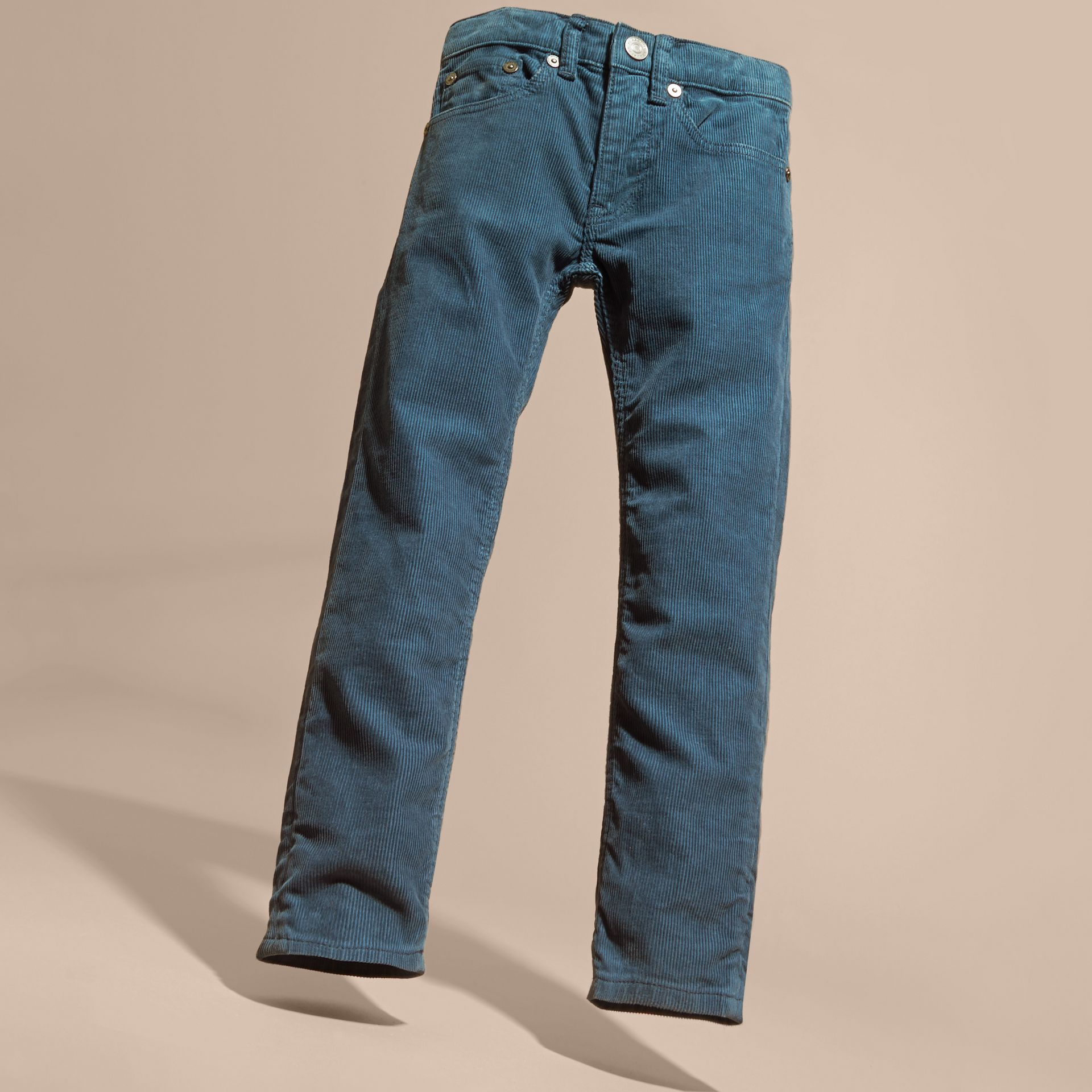 Mineral blue Stretch Corduroy Jeans Mineral Blue - gallery image 3