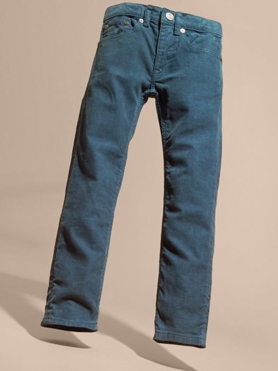 Bleu minéral Jean extensible en velours côtelé Bleu Minéral - cell image 2