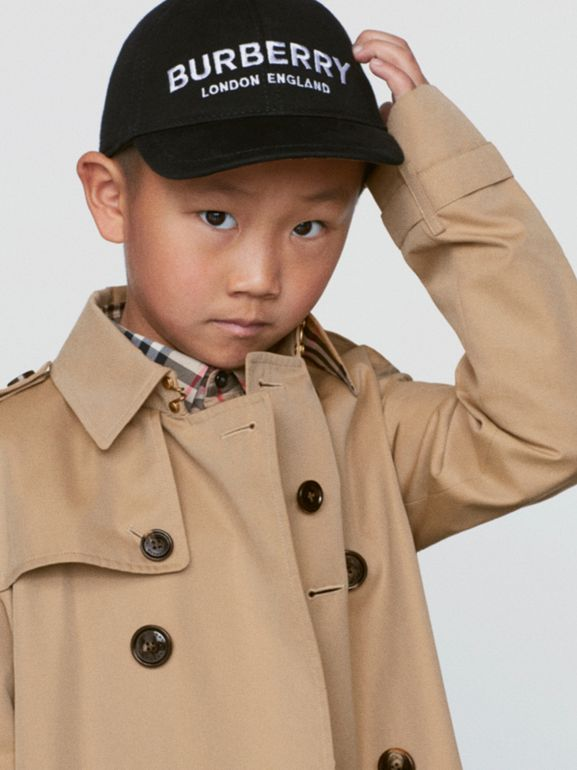 Embroidered Logo Baseball Cap in Black - Children | Burberry - cell image 1