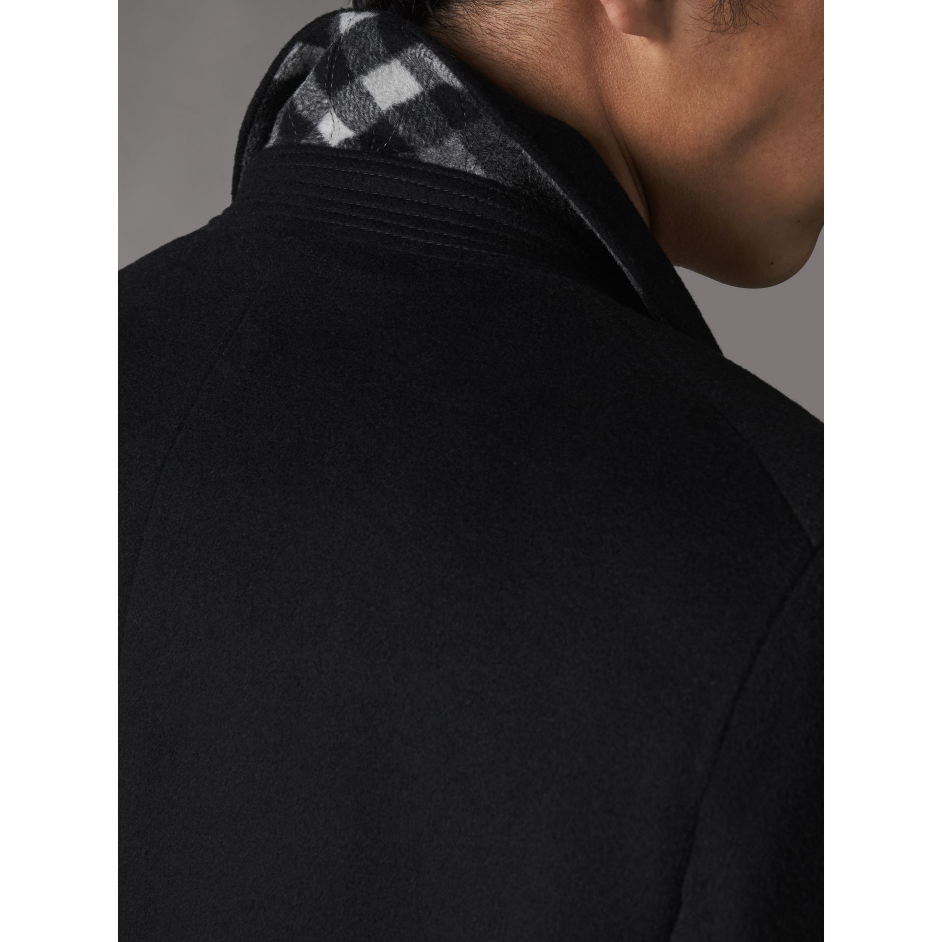 Double-breasted Wool Cashmere Tailored Coat in Black - Men | Burberry Canada - gallery image 5