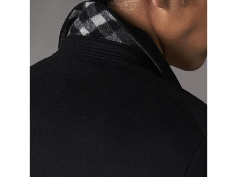 Double-breasted Wool Cashmere Tailored Coat in Black - Men | Burberry United Kingdom - cell image 4