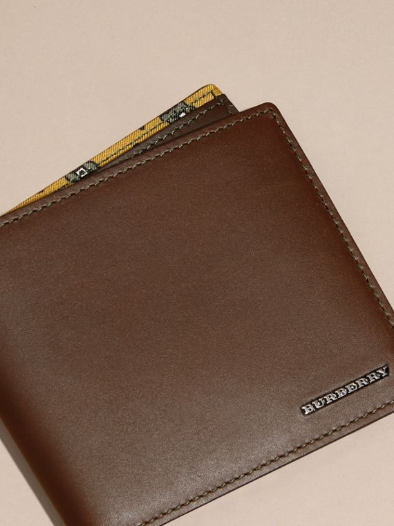 Sepia brown Smooth Leather Folding Wallet Sepia Brown - cell image 2