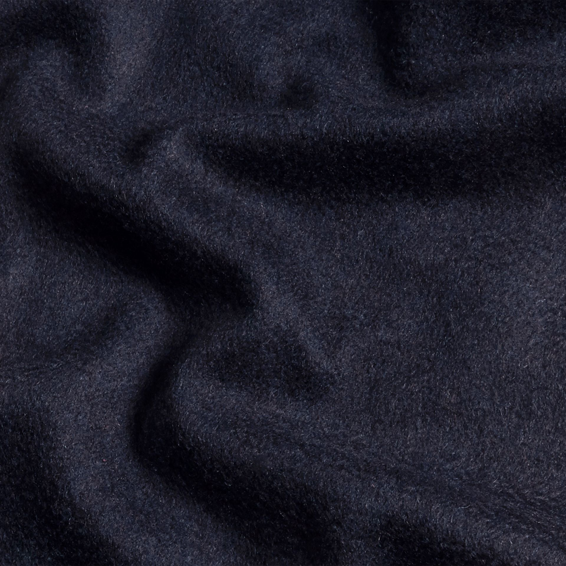 The Classic Cashmere Scarf in Navy - gallery image 5