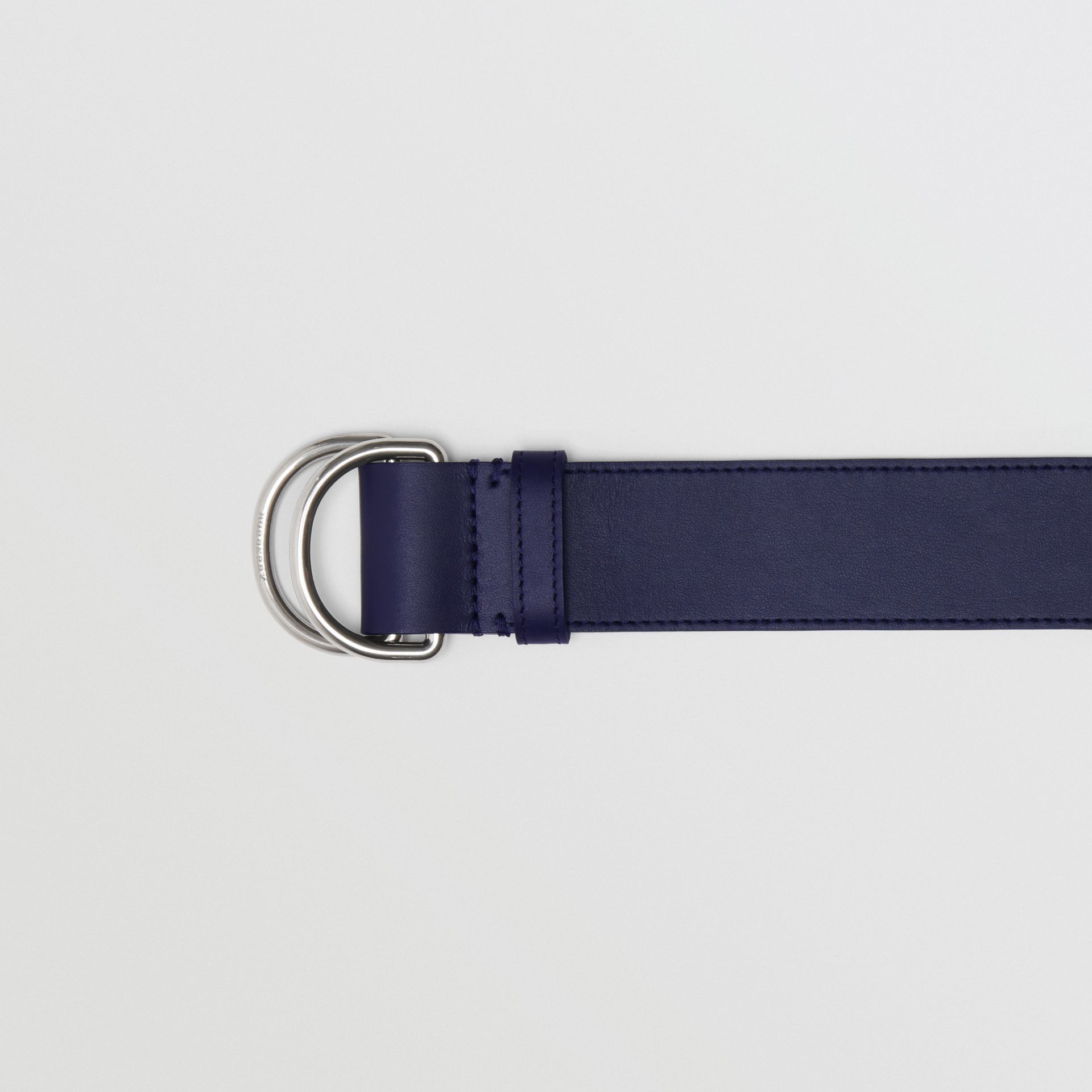 Leather Double D-ring Belt in Regency Blue/mauve - Women | Burberry - gallery image 1