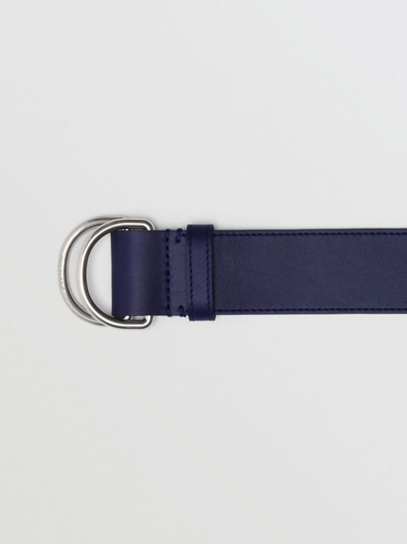 Leather Double D-ring Belt in Regency Blue/mauve - Women | Burberry - cell image 1