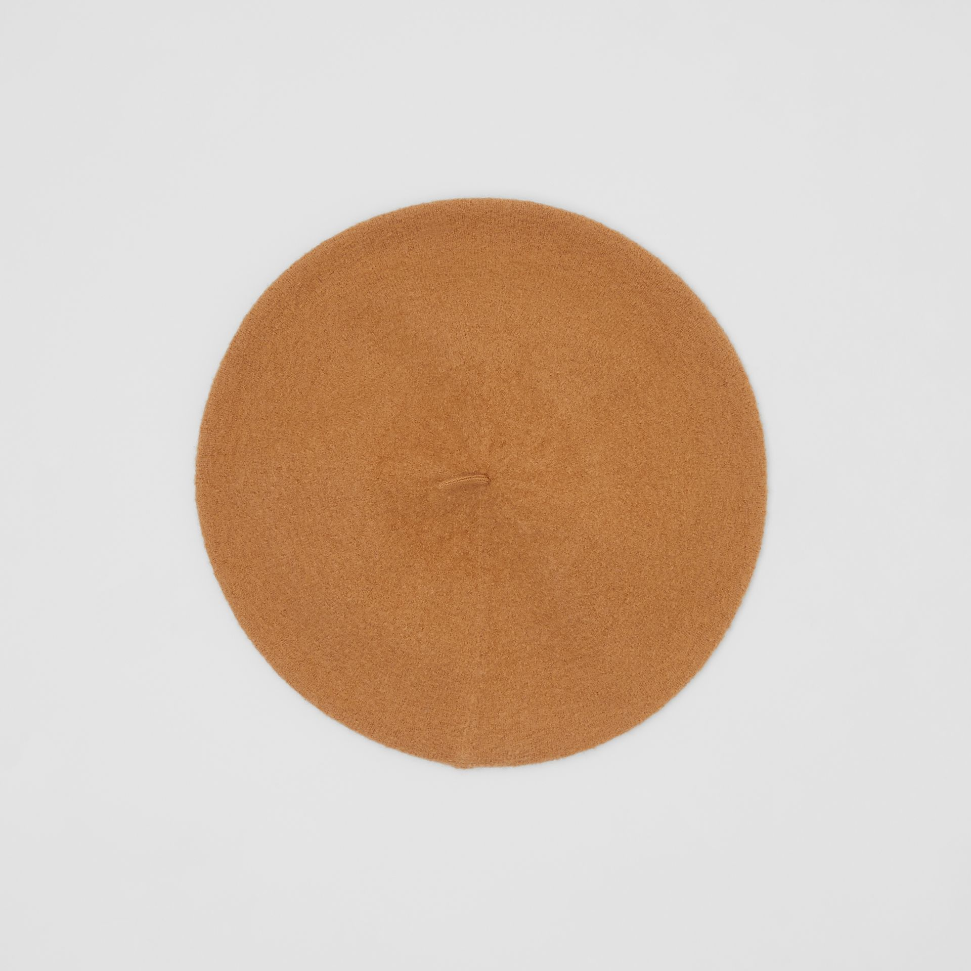 Logo Graphic Merino Wool Beret in Burnt Almond | Burberry Canada - gallery image 0