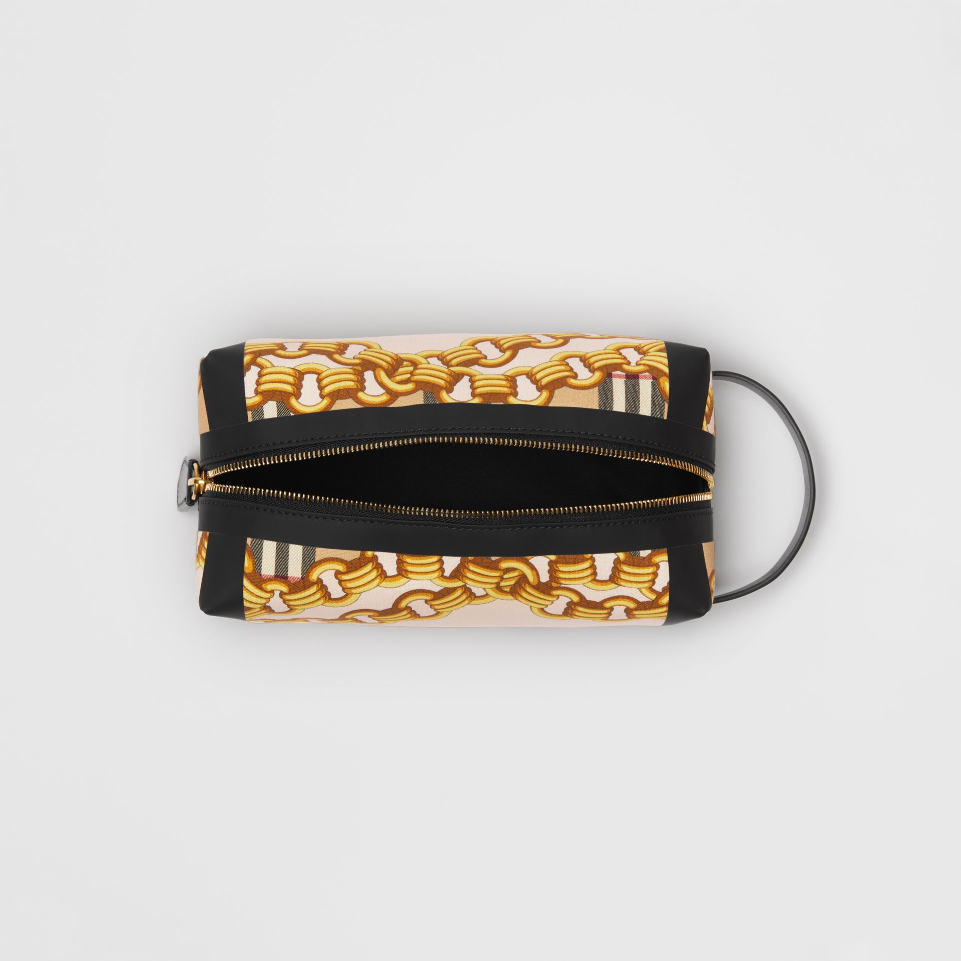 Archive Scarf Print Cotton Pouch in Black - Women | Burberry Australia - gallery image 5