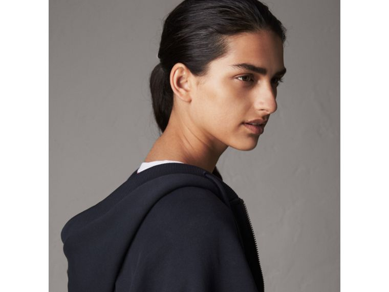 Jersey Hooded Cape in Navy - Women | Burberry - cell image 1