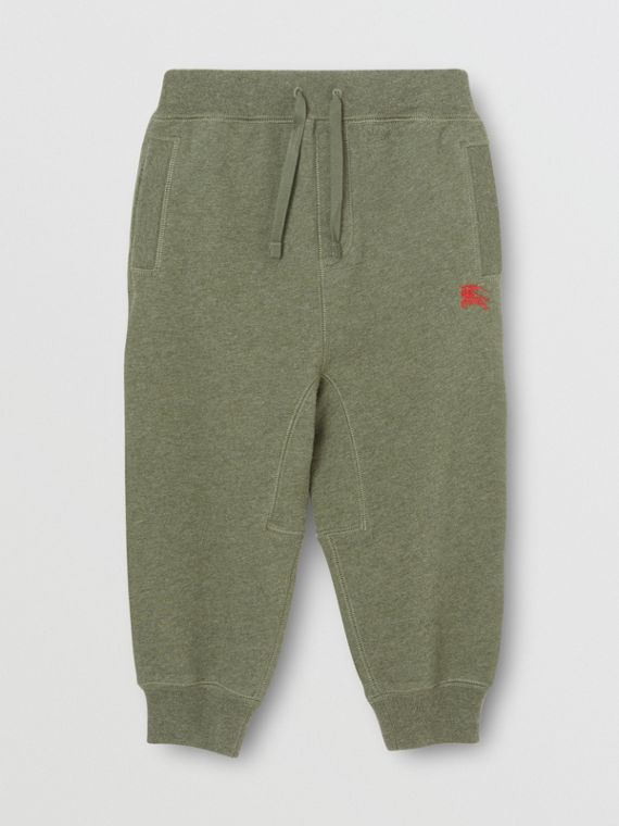 Cotton Jersey Trackpants in Olive Melange