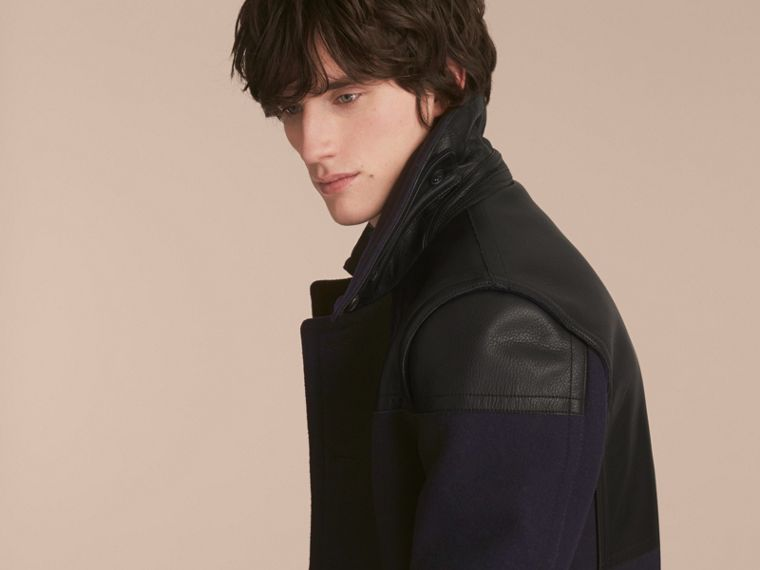 Pea Coat with Detachable Shearling Topcollar - cell image 4