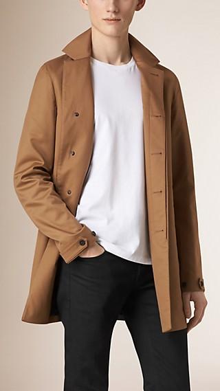 Manteau mi-long léger en coton et soie