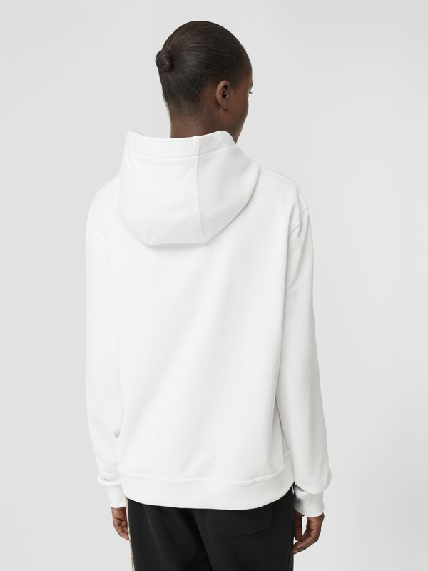 Monogram Motif Cotton Hoodie in White - Women | Burberry United Kingdom - cell image 2