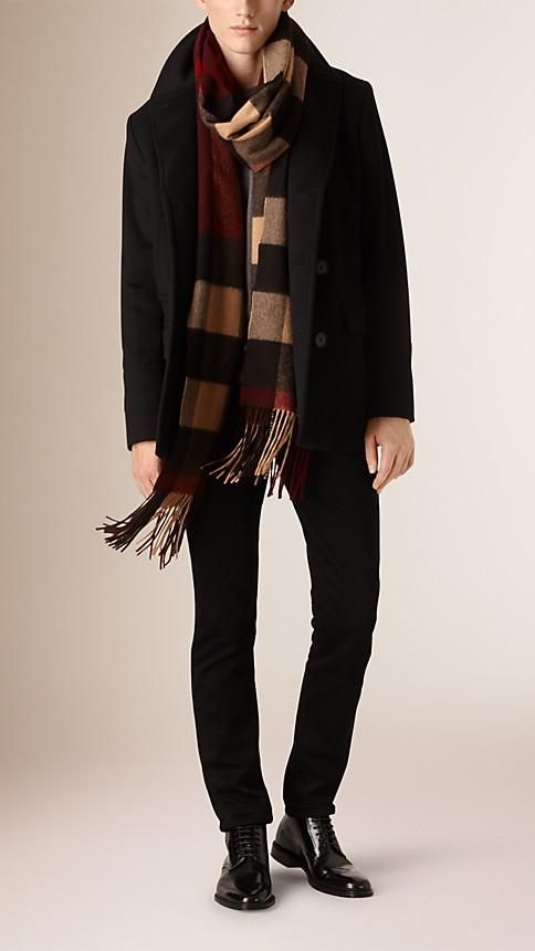 Noir Caban en laine vierge et cachemire - Image 2