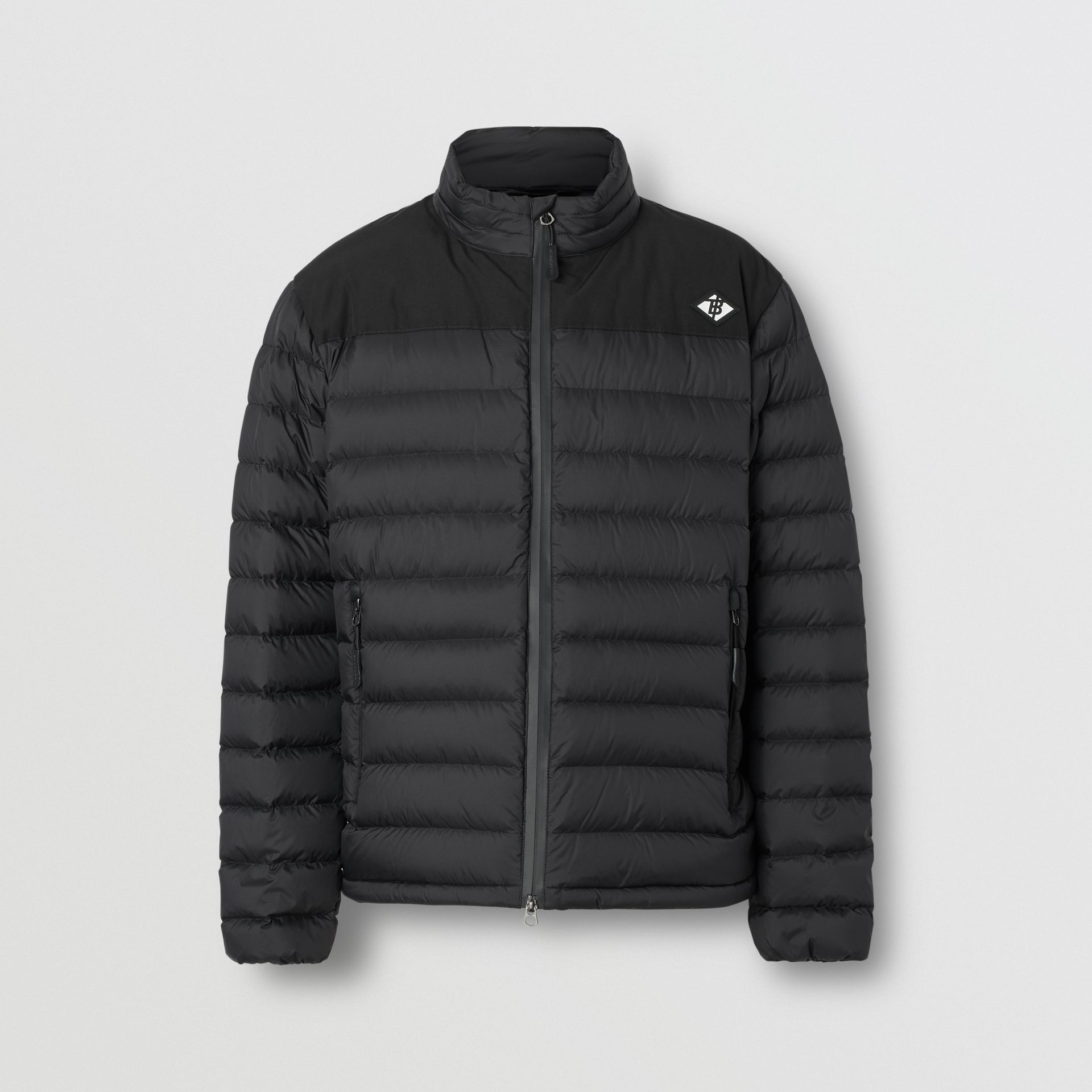 Logo Graphic Lightweight Puffer Jacket in Black - Men | Burberry - gallery image 3