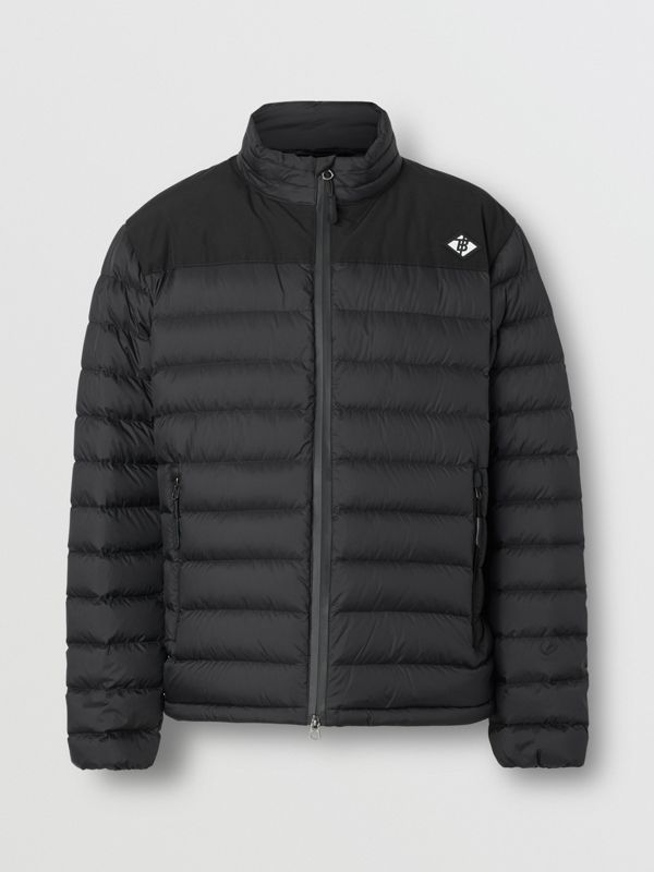 Logo Graphic Lightweight Puffer Jacket in Black - Men | Burberry - cell image 3