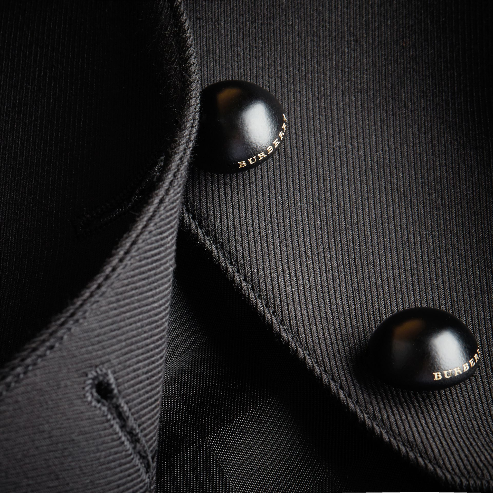 Wool Cotton Blend Twill Tailored Jacket in Black - Women | Burberry - gallery image 2