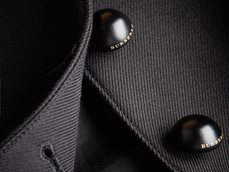 Jaqueta de alfaiataria de sarja de lã e algodão (Preto) - Mulheres | Burberry - cell image 1